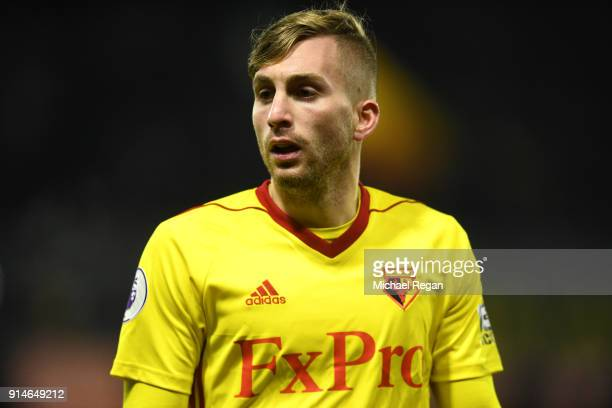 Gerard Deulofeu of Watford during the Premier League match between Watford and Chelsea at Vicarage Road on February 5 2018 in Watford England