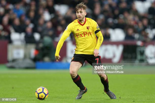 Gerard Deulofeu of Watford during the Premier League match between West Ham United and Watford at London Stadium on February 10 2018 in London England