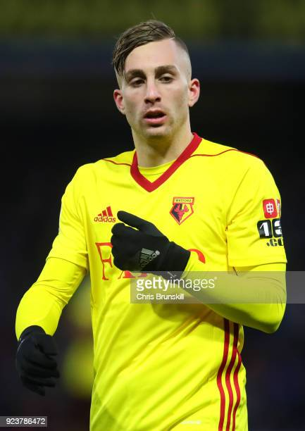 Gerard Deulofeu of Watford during the Premier League match between Watford and Everton at Vicarage Road on February 24 2018 in Watford England