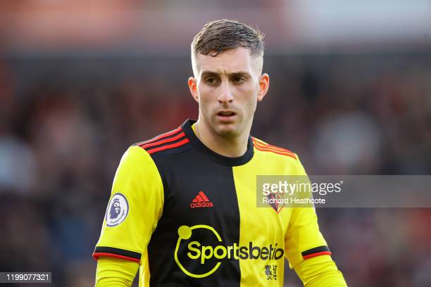 Gerard Deulofeu of Watford looks on during the Premier League match between AFC Bournemouth and Watford FC at Vitality Stadium on January 12, 2020 in...