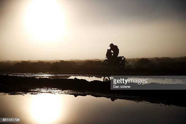 Gerard Farres Guell of Spain and KTM Himoinsa rides a 450 Rally KTM bike in the Elite ASO during stage eight of the 2017 Dakar Rally between Uyuni...