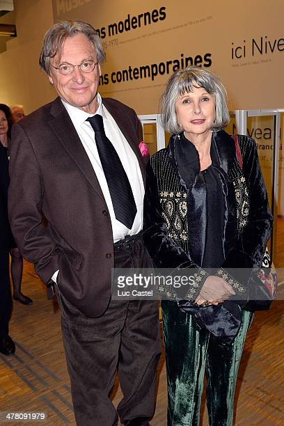 Gerard Garouste and his wife Elisabeth Garouste attend the 'Societe des amis du Musee D'Art Moderne' Annual Dinner Held at Centre Pompidou on March...