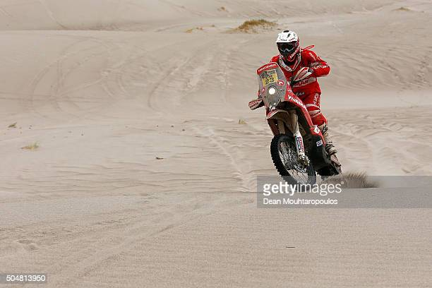 Gerard Guell Farres of Spain riding on and for KTM 450 RALLY HIMOINSA RACING TEAM competes on day 11 stage ten between Belen and La Rioja during the...