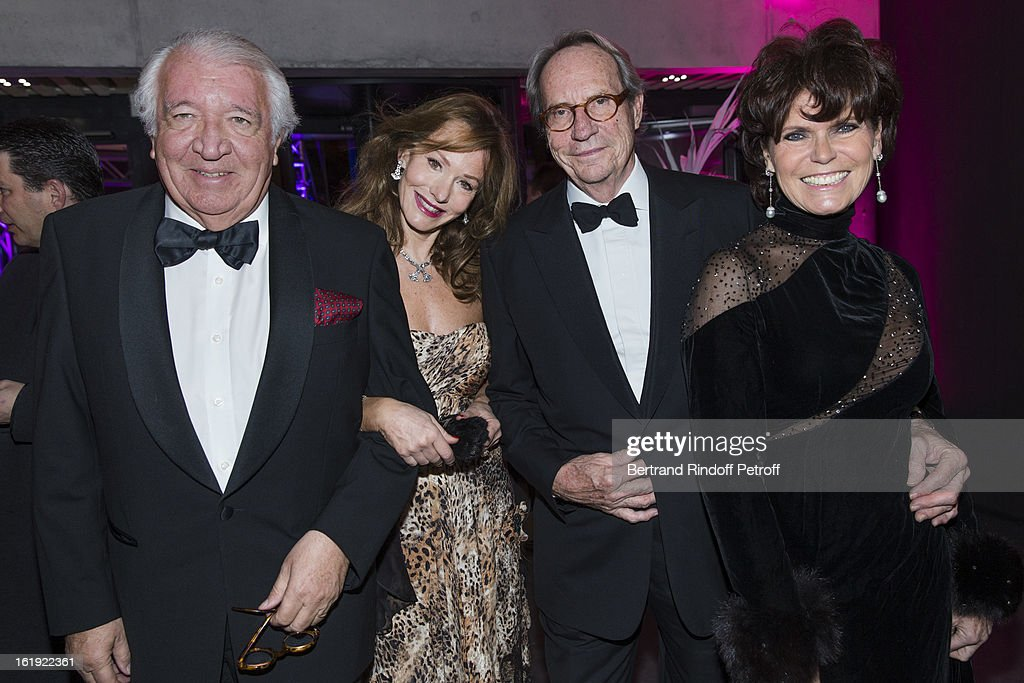Gerard Guyot-Jeannin, his wife Armelle, Jean-Claude Bellan and his wife Catherine attend the 30th edition of 'La Nuit Des Neiges' Charity Gala on February 16, 2013 in Crans-Montana, Switzerland.