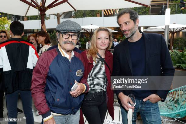 Gerard Hernandez Charlie Bruneau and JeanBaptiste Pouilloux attend the 2019 French Tennis Open Day Five at Roland Garros on May 30 2019 in Paris...