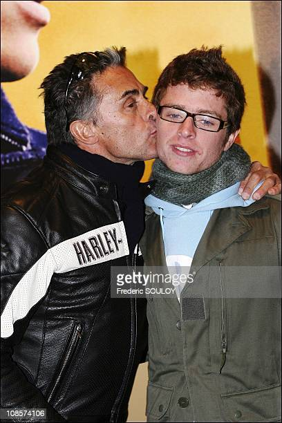 Gerard Holtz and his son Antoine in Paris France on October 03rd 2005