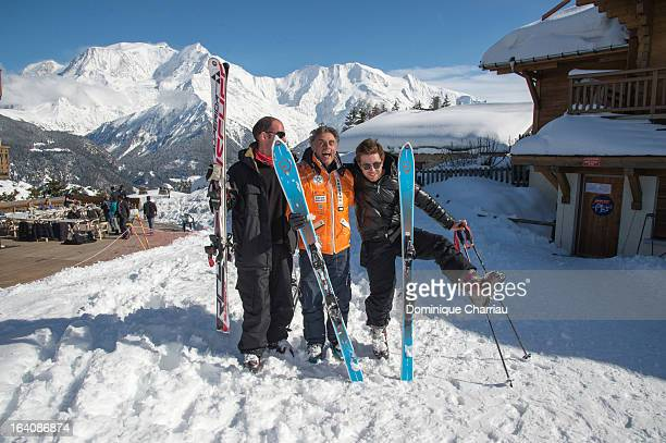 Gerard Holtz and his sons Julien and antoine sighted during the 29th International Festival MontBlanc D'Humour on March 19 2013 in...