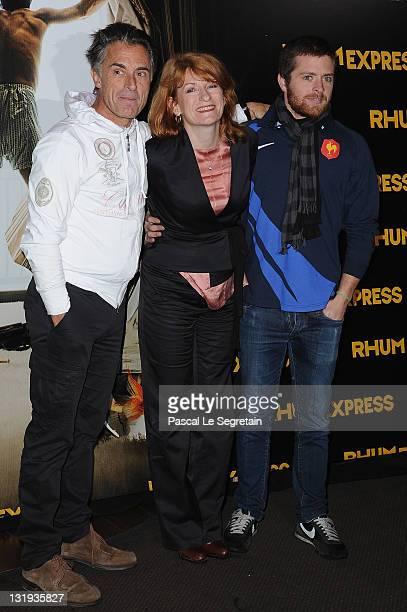 Gerard Holtz and son Antoine attend the 'Rhum Express' Paris Premiere at Cinema Gaumont Marignan on November 8 2011 in Paris France