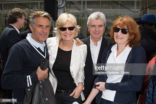 Gerard Holtz Catherine Ceylac Claude Serillon and Muriel Mayette attend the Roland Garros French Tennis Open 2014
