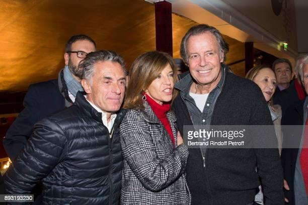 Gerard Holtz Framboise Holtz and Michel Leeb attend Michel Leeb 40 ans Theater Show at Casino de Paris on December 14 2017 in Paris France