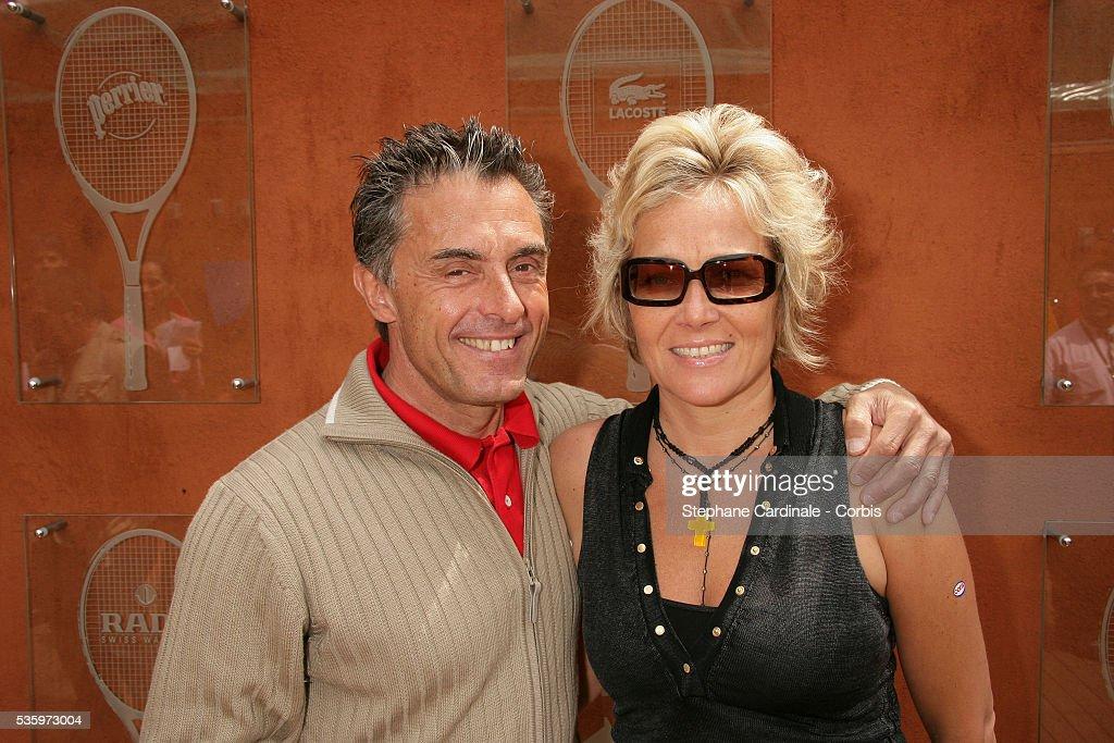 Gerard Holtz visits Roland Garros Village during the 2005 French Open tennis.