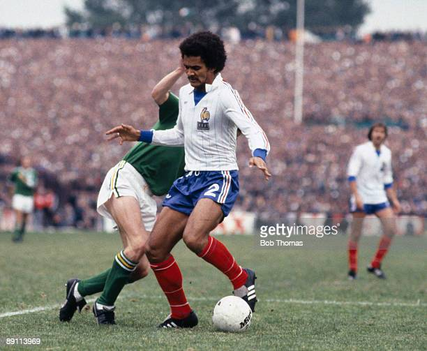 Gerard Janvion in action for France during their FIFA World Cup Qualifying match against the Republic of Ireland at Lansdowne Road in Dublin 14th...