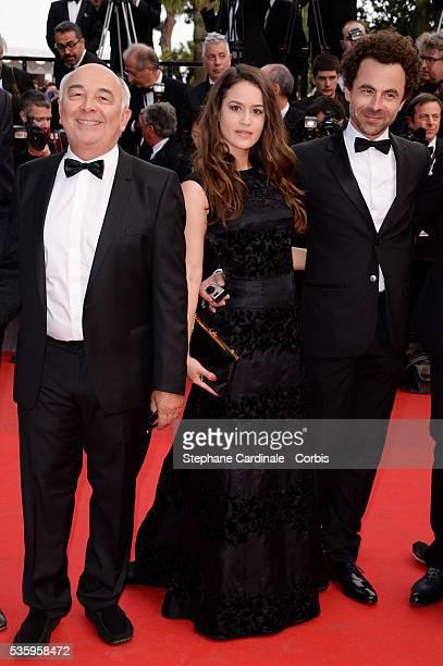 Gerard Jugnot Alice David and Nicolas Benamou at the Dragon 2 premiere during the 67th Cannes Film FestivalPhilippe Lacheau Nicolas Benamou Enzo...