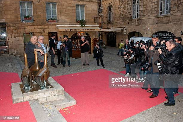 Gerard Jugnot and Francois Berleand attend the 'Un Jour Mon Pere Viendra' Photocall during the Sarlat Film Festival 2011 on November 9 2011 in...