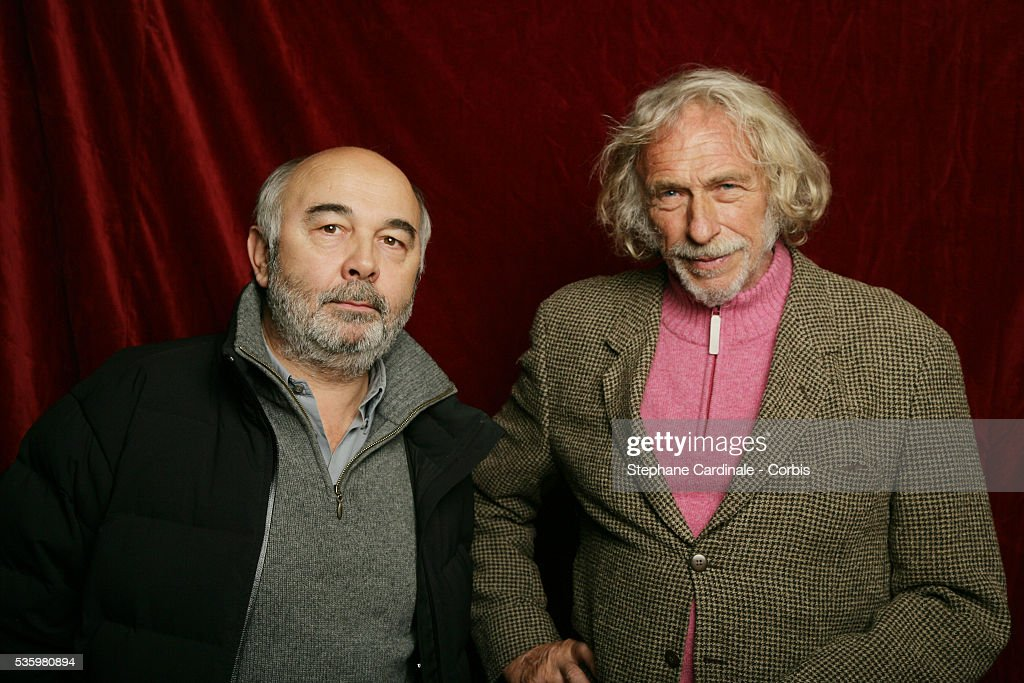 Gerard Jugnot and Pierre Richard at the 'Henri Jeanson' prize ceremony.