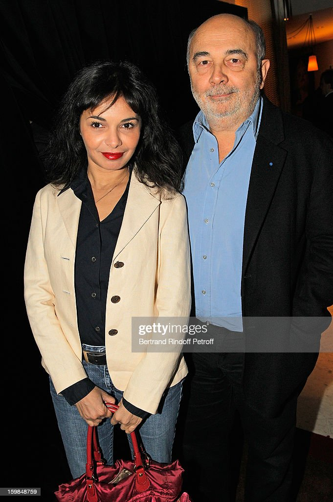 Gerard Jugnot and Saida Jawad attend 'La Petite Maison De Nicole' Inauguration Cocktail at Hotel Fouquet's Barriere on January 21, 2013 in Paris, France.