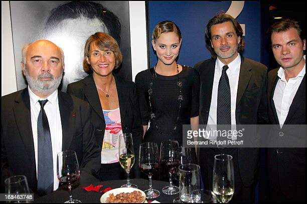 Gerard Jugnot Christine Albanel Nora Arnezeder Christophe Barratier and Clovis Cornillac at Premiere Of Film 'Faubourg 36' At Ugc Normandie In...