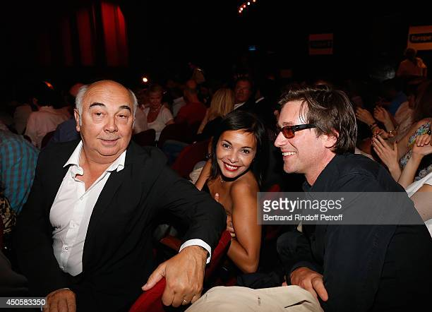 Gerard Jugnot Saida Jawad and Thomas Dutronc attend the one man show of Pierre Richard 'Le Vendredi 13 De Pierre Richard' at L'Olympia on June 13...