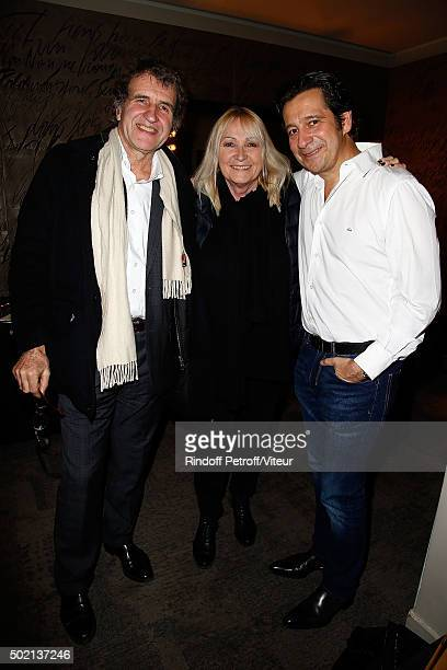 Gerard Leclerc Julie Leclerc and Laurent Gerra and his wife attend the Laurent Gerra One Man Show at L'Olympia on December 19 2015 in Paris France