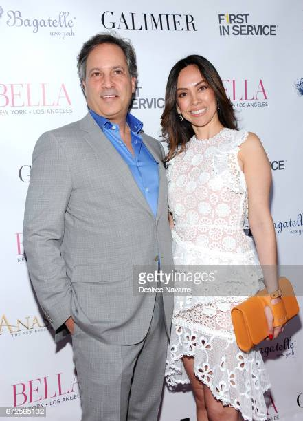 Gerard Longo and Carolina Gonzalez attend BELLA New York Spring Issue cover party hosted by Kelly Osbourne at Bagatelle on April 24 2017 in New York...