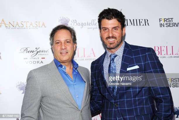 Gerard Longo and Dan Hall attend BELLA New York Spring Issue cover party hosted by Kelly Osbourne at Bagatelle on April 24 2017 in New York City