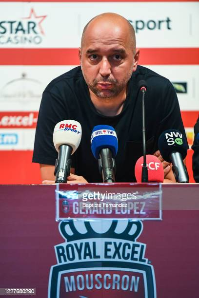 Gerard LOPEZ president of Lille during a press conference ahead of the preseason soccer friendly match between Lille and Mouscron on July 18 2020 in...