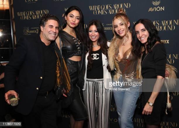 Gerard Maione Ambra Battilana Gutierrez Sophie Beem and Sabrina Levine attend the What Goes Around Comes Around Madison Avenue Flagship Opening...