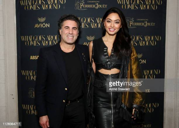 Gerard Maione and Ambra Battilana Gutierrez attend the What Goes Around Comes Around Madison Avenue Flagship Opening Celebration with Pernod Ricard...