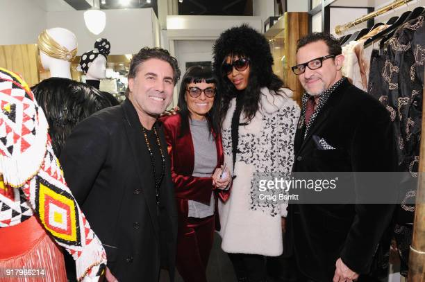 Gerard Maione Norma Kamali Naomi Campbell and Seth Weisser attend Vintage For The Future A Norma Kamali Retrospective by What Goes Around Comes...