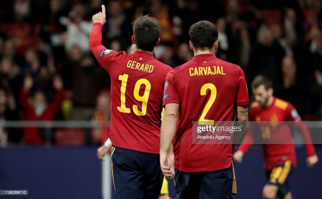 Spain vs Romania - UEFA EURO 2020 : Fotografia de notícias