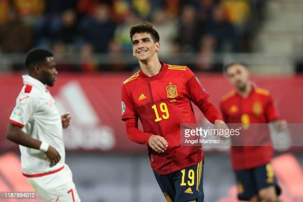 Gerard Moreno of Spain reacts during the UEFA Euro 2020 Qualifier between Spain and Malta on November 15 2019 in Cadiz Spain