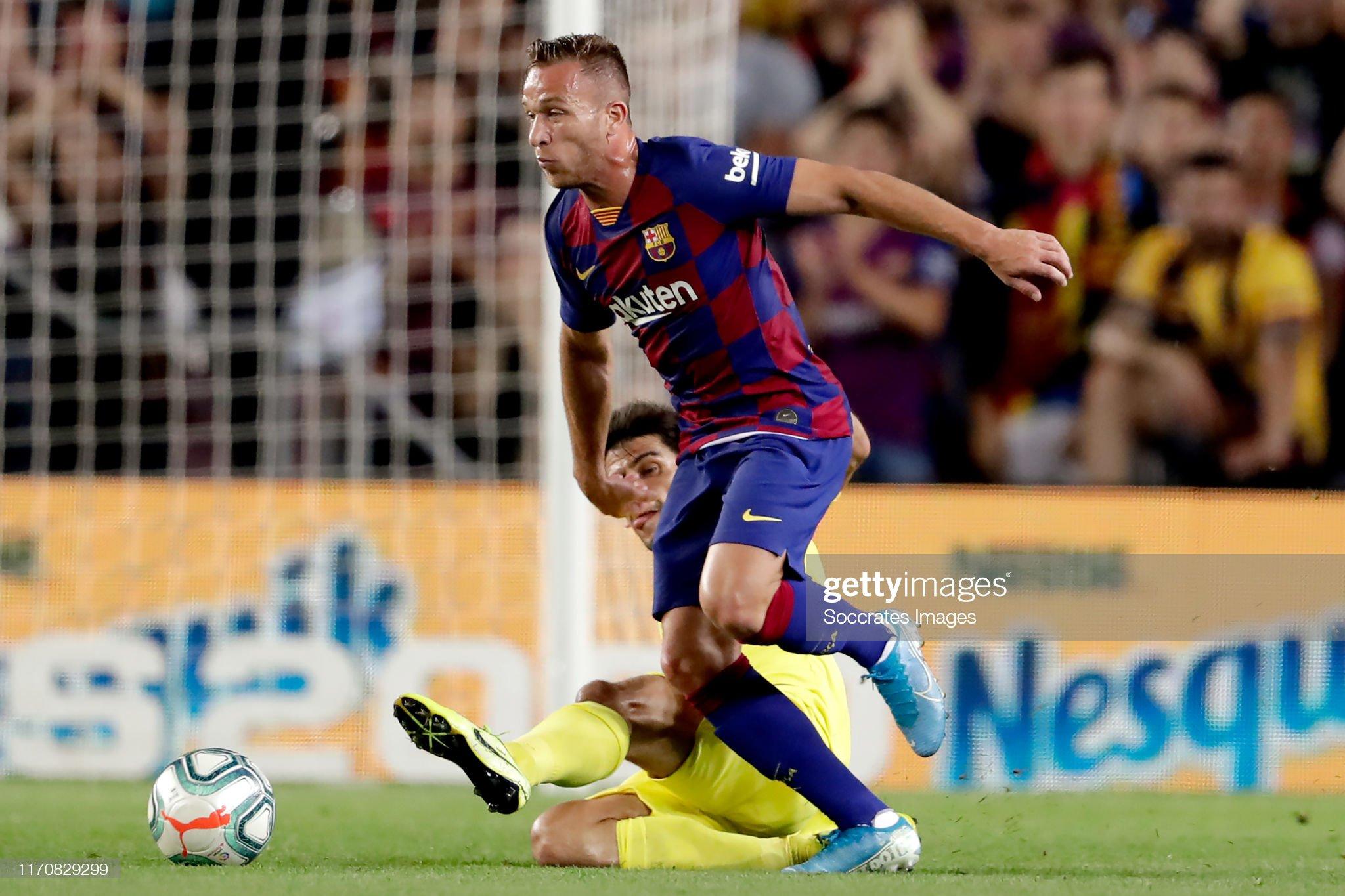 صور مباراة : برشلونة - فياريال 2-1 ( 24-09-2019 )  Gerard-moreno-of-villarreal-arthur-of-fc-barcelona-during-the-la-liga-picture-id1170829299?s=2048x2048