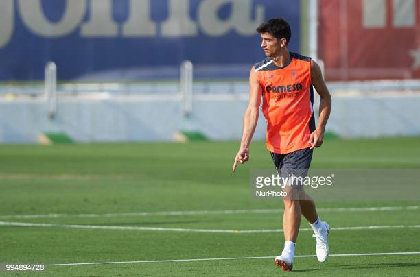 Gerard Moreno of Villarreal CF during the first training of the season 20182019 at Ciudad Deportiva of Miralcamp 9 July 2018 in Vilareal Spain