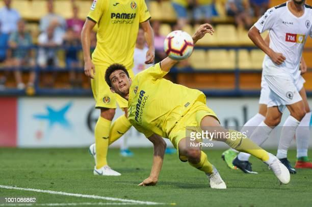 Gerard Moreno of Villarreal CF during the friendly match between Villarreal CF and Hercules at Ciudad Deportiva of Miralcamp on July 17 2018 in...