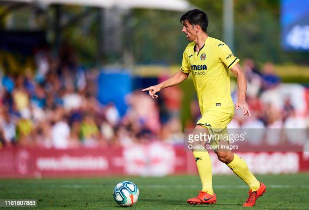 Gerard Moreno of Villarreal CF in action during a PreSeason Friendly match between Villarreal and West Bromwich Albion on July 13 2019 in Oliva Spain...