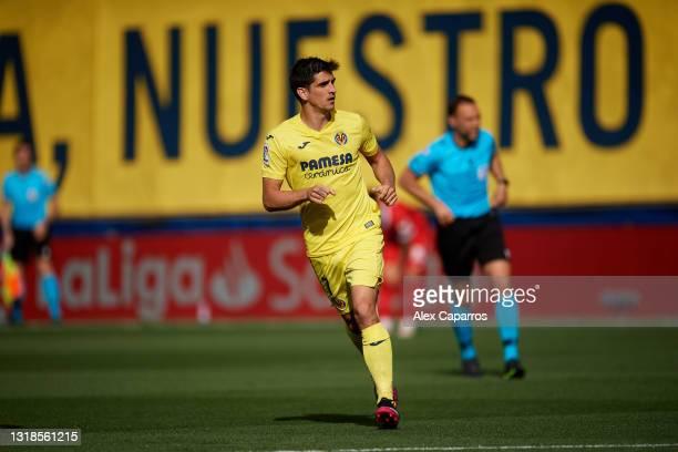 Gerard Moreno of Villarreal CF runs during the La Liga Santander match between Villarreal CF and Sevilla FC at Estadio de la Ceramica on May 16, 2021...