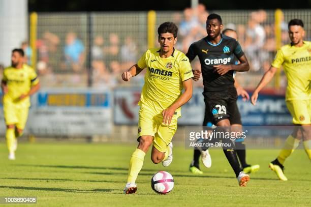 Gerard Moreno of Villarreal during the friendly match between Marseille and Villarreal on July 21 2018 in Le Pontet France
