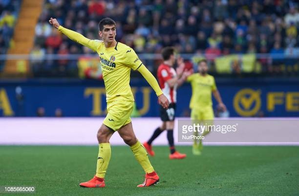 Gerard Moreno of Villarreal during the La Liga Santander match between Villarreal and Athletic Club de Bilbao at La Ceramica Stadium on Jenuary 20...