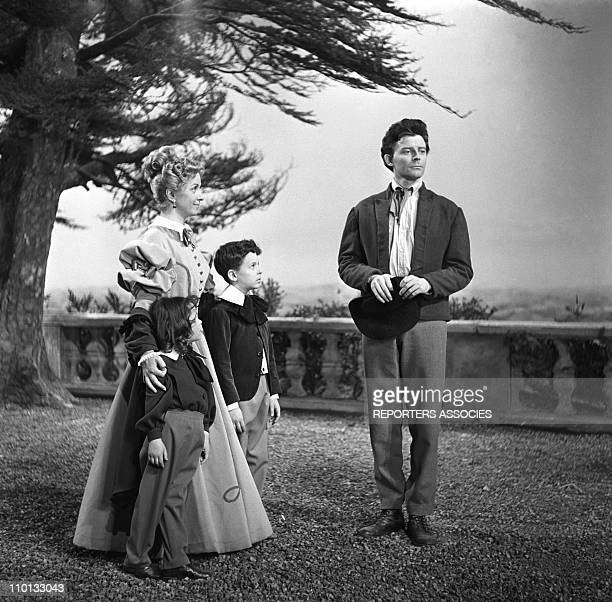 Gerard Philipe and Danielle Darrieux on the set of the movie 'The red and the black' by Claude Autant-Lara in 1954.