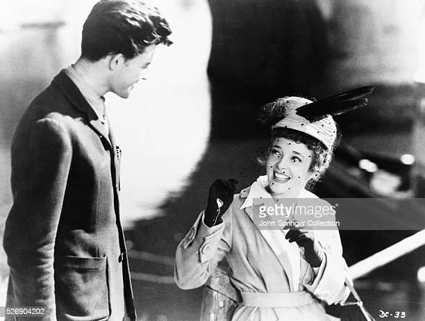 Gerard Philipe as student Francois Jaubert with Mecheline Presle as Marthe Grangier in the 1946 film Devil in the Flesh.
