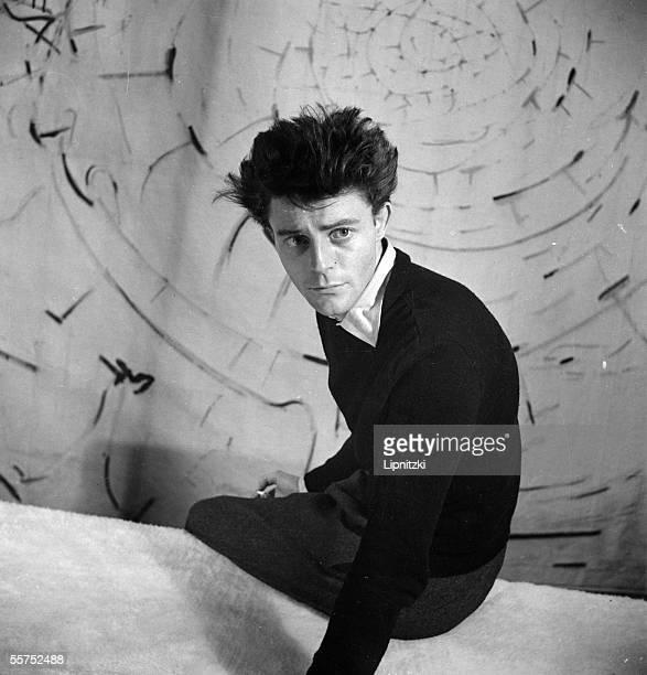 "Gerard Philipe in "" Epiphanie "" of Henri Pichette. Paris, theater of Noctambules. November 1947. LIP-108014-044."