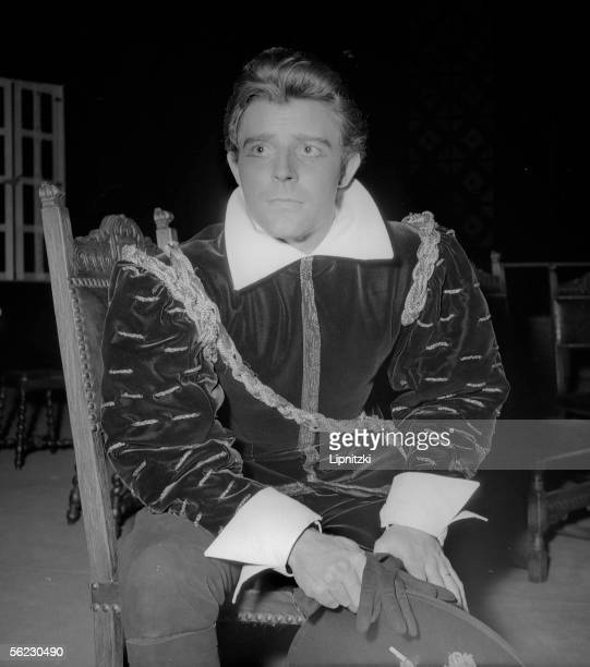 Gerard Philipe in Ruy Blas of Victor Hugo Production of Jean Vilar Paris TNP February 1954 LIP160072051