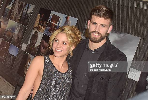 Gerard Pique and Shakira attend the 'Festa De Esport Catala 2016 Awards' on January 25 2016 in Barcelona Spain