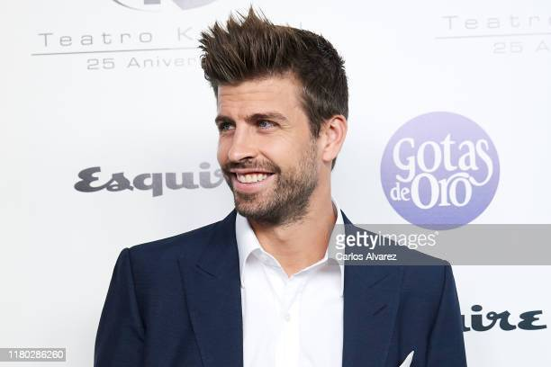Gerard Pique attends 'Hombres Esquire' 2019 awards at the Kapital Club on October 10, 2019 in Madrid, Spain.
