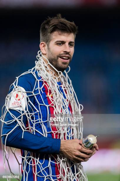 Gerard Pique Bernabeu of FC Barcelona after winning the Copa Del Rey Final match between FC Barcelona and Deportivo Alaves at Vicente Calderon...