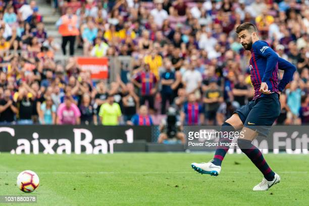 Gerard Pique Bernabeu of FC Barcelona in action during the La Liga 201819 match between FC Barcelona and SD Huesca at Camp Nou on 02 September 2018...