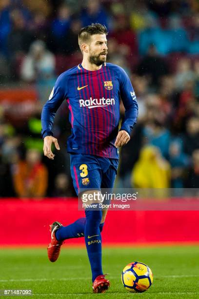 Gerard Pique Bernabeu of FC Barcelona in action during the La Liga 201718 match between FC Barcelona and Sevilla FC at Camp Nou on November 04 2017...