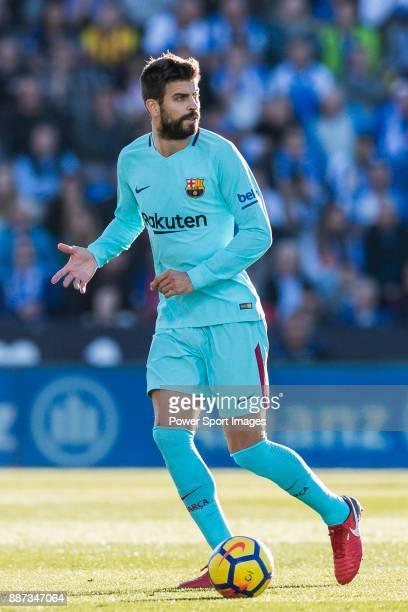 Gerard Pique Bernabeu of FC Barcelona in action during the La Liga 201718 match between CD Leganes vs FC Barcelona at Estadio Municipal Butarque on...