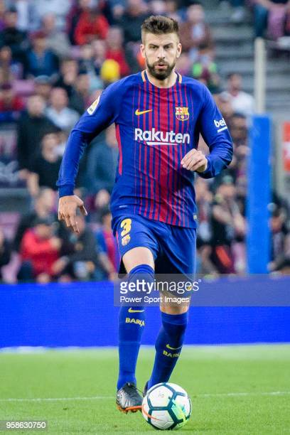 Gerard Pique Bernabeu of FC Barcelona in action during the La Liga 201718 match between FC Barcelona and Villarreal CF at Camp Nou on May 09 2018 in...