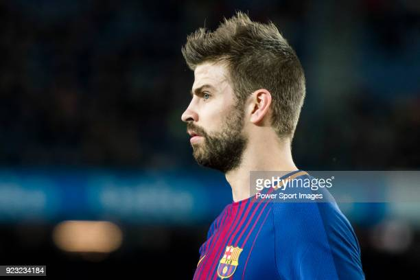 Gerard Pique Bernabeu of FC Barcelona looks on during the La Liga 201718 match between FC Barcelona and Deportivo Alaves at Camp Nou on 28 January...